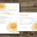 Sunflower Sketch Invite and RSVP