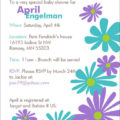 Baby Shower invite - Funky Flowers