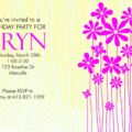 Daisy Field birthday party invitation template