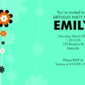 Flower Vine Kid's Birthday Party invitation template by Daisy Designs