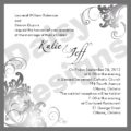 Simply charcoal invite