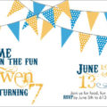 Pennant Birthday Party Invite