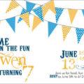 Pennant Birthday Party Invite