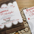 Country Chic invite rsvp