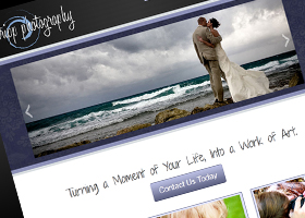 Website design for Tripp Photography