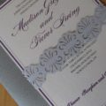 Sterling Sash Invitation Close-up