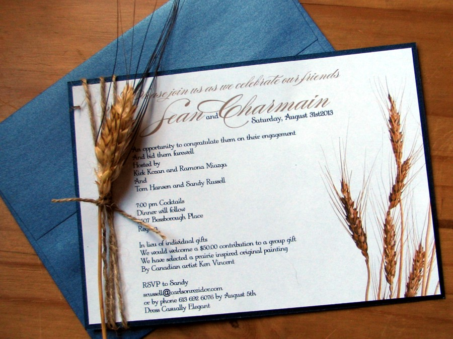 Wheat Kings Wedding Invitation by Daisy Designs