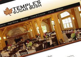 Website design for Temple's Sugar Bush