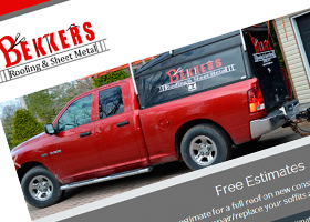 Website design for Bekkers Roofing