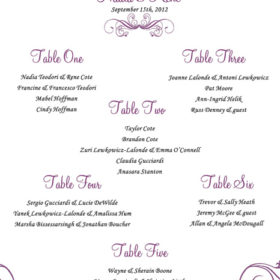 Mystic Violet Seating Chart