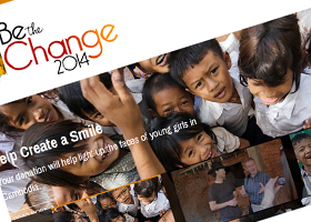 Website design for Be The Change Today 2014