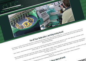 Website design for Elite Engraving and Embroidery Inc