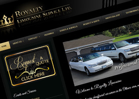 Website design for Royalty Limousine Service Ltd