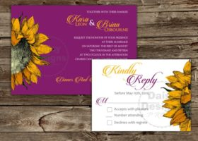 Sunflower Sun Invitation and RSVP