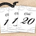 Instant Download - Clandestine Table Numbers 1 - 30