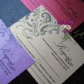 Corner Filigree on Metallic RSVP