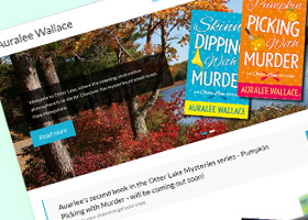 Website for Auralee Wallace - author