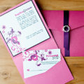 Fuchsia Kiss pocket invite