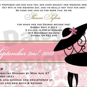 Light Pink Damask Shower invite