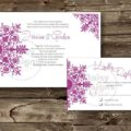 Bohemian Orchid invite and rsvp
