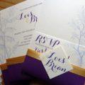 Lois' Lilac invite, rsvp