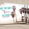 Palm Tree Save the Date package