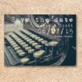 Typewriter Save the Date card