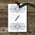 Sapphire Lace Table Numbers 1 - 25