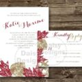 Grunge Leaves invite and rsvp