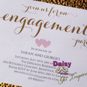 Two Hearts Engagement Party invites