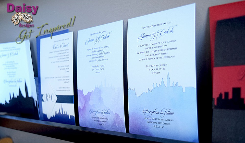 Daisy Designs Studio Samples of invitations with city skylines