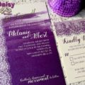 majestic purple lace 5x7 invite