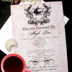 High Tea Shower and event Invitation