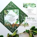 Tropical Laser-cut suite of stationery