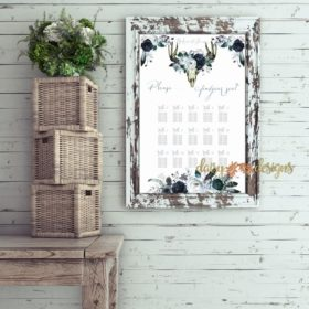 Boho Blooms Seating Chart