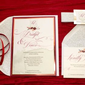 Scarlet and Silver invite suite
