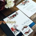 Navy and Merlot invites