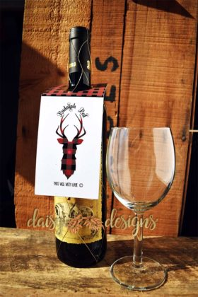 Reindeer Games bottle tags